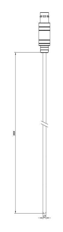Sheathing   without wire   NTC 10 kOhm - Sheathing resistance thermometer