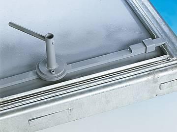 BV-GDZ steel galvanised Hinged, central lock cover... - Hinged, central lock cover with gas-strut lift