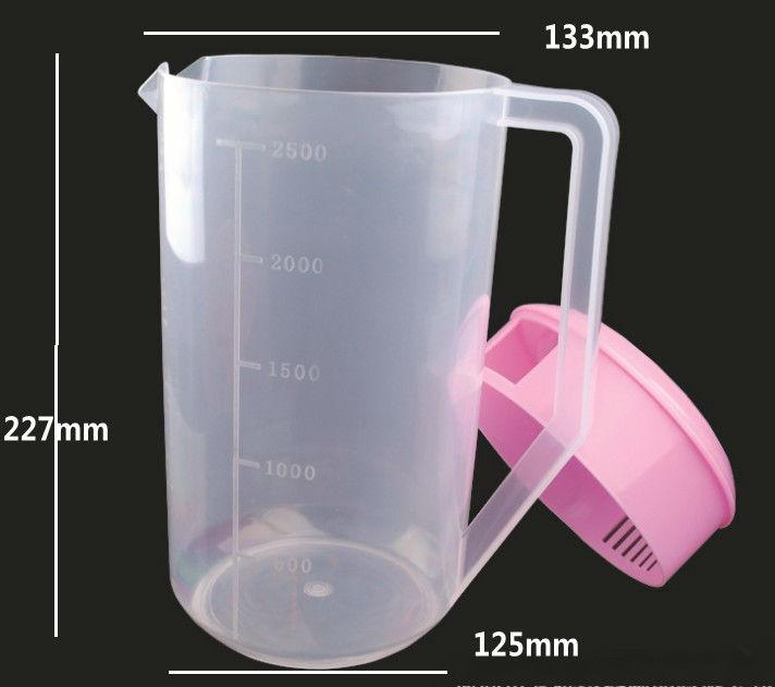2500ml Plastic measured cup/ pitcher with cap  - Plastic measured cup/ pitcher