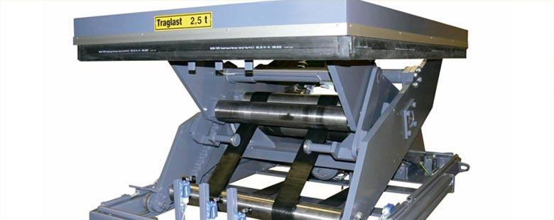 Belt lifting tables  - BELT-LINE Power without oil