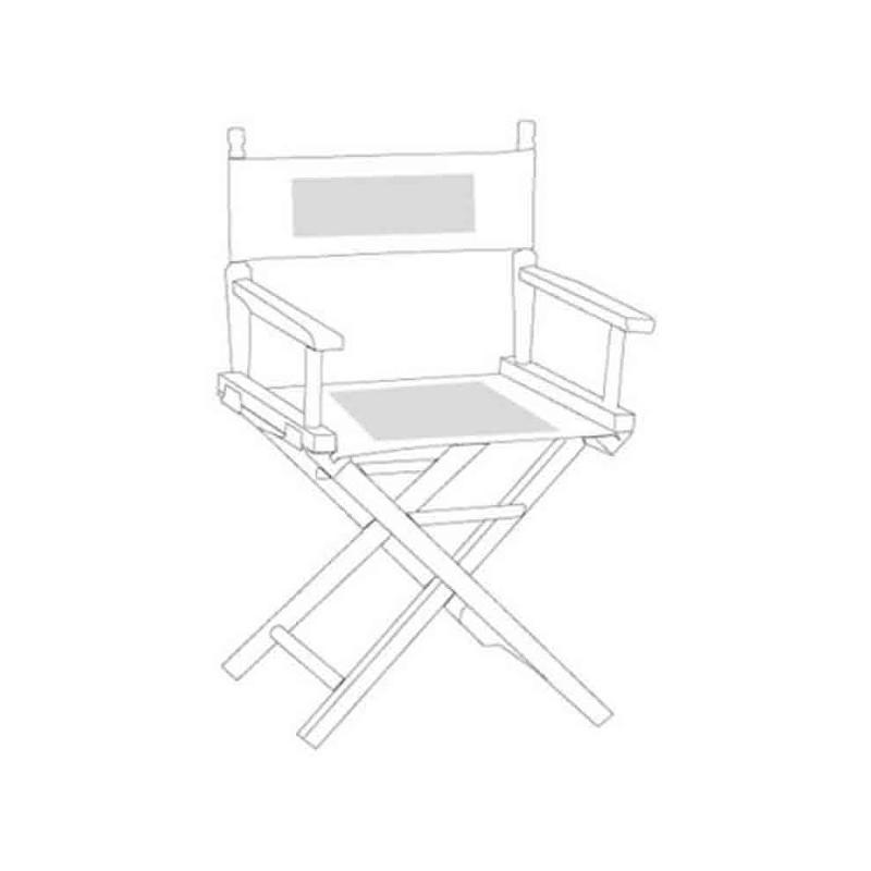 Chaise metteur en sc ne noir transats personnalis s rue du print france - Chaise metteur en scene ...