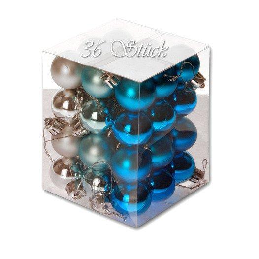 Weihnachtskugel 36 Stück 3cm Durchmesser Farbe: Aqua /... - null