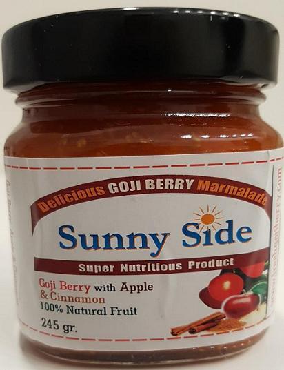 Sunny Side - Fresh goji berry 70% Apple 30%, cinnamon, vanilla