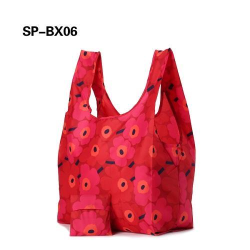 Pongee Fabric Shopping Bag - Durable pongee fabric reusable foldable shopping bag