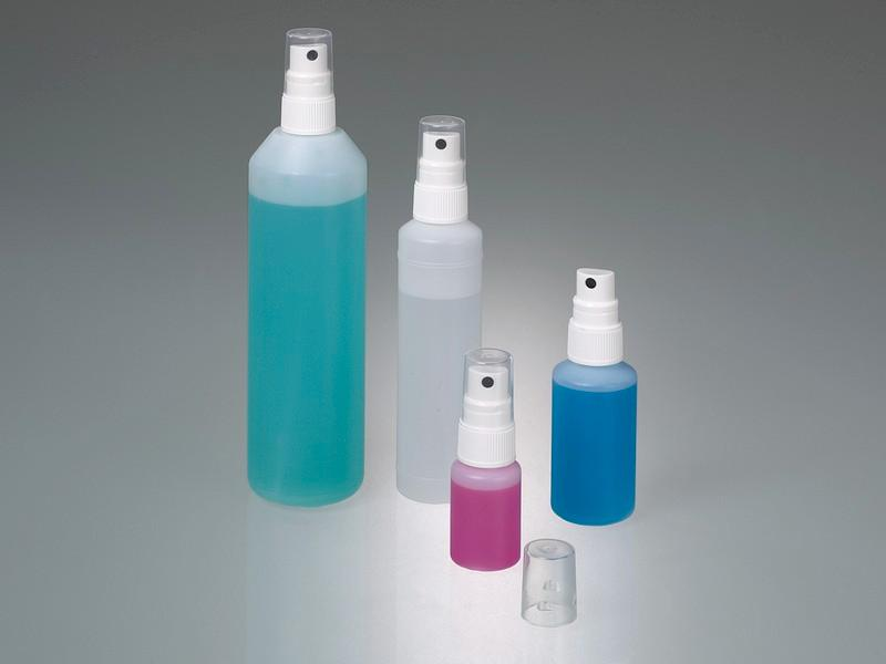 Spray bottle with pump vaporizer - Plastic sprayer, HDPE bottle, laboratory equipment