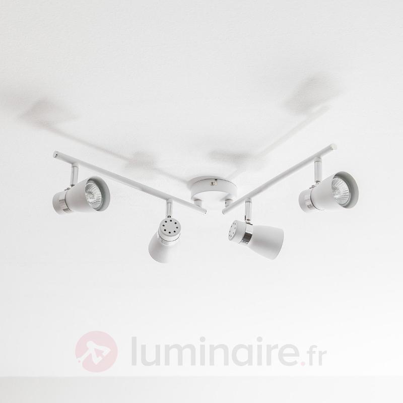 Plafonnier LED GU10 Arjen à 4 lampes - Plafonniers LED