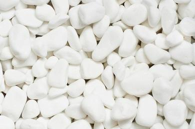 Marble - Snow-white tumbled marble (size 40-50 mm)