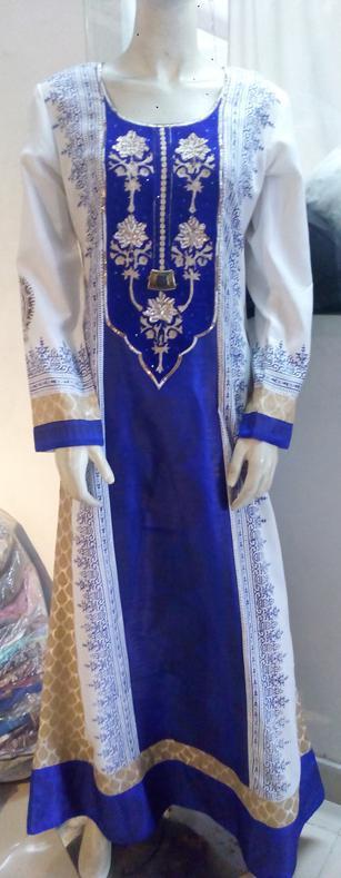 Casual Jalabiya & Jilbabs for Ramadan | Manufacturer - Embellished Jalabiya | Full Sleeve | Block Printed | A Line