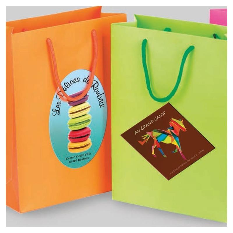 Étiquettes pour sac - Etiquette autocollante pour boutique