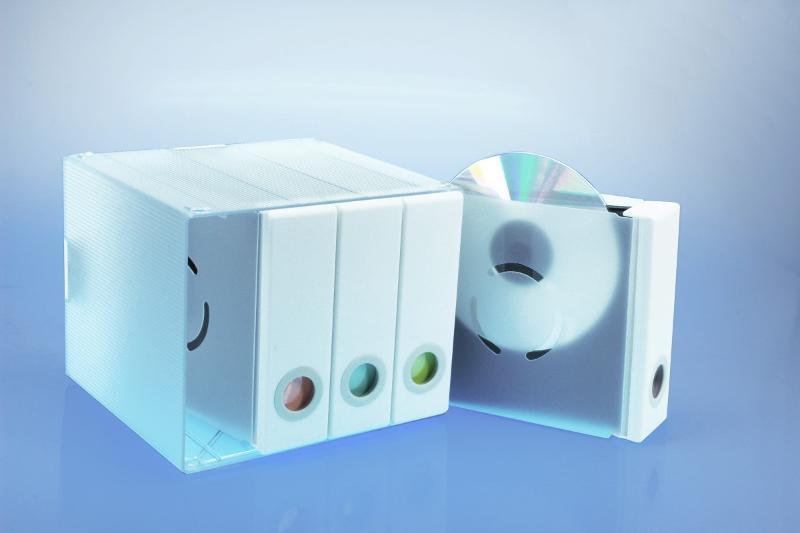 Parade für 96 CD's platzsparendes,staubgeschütztes - CD Archivierung