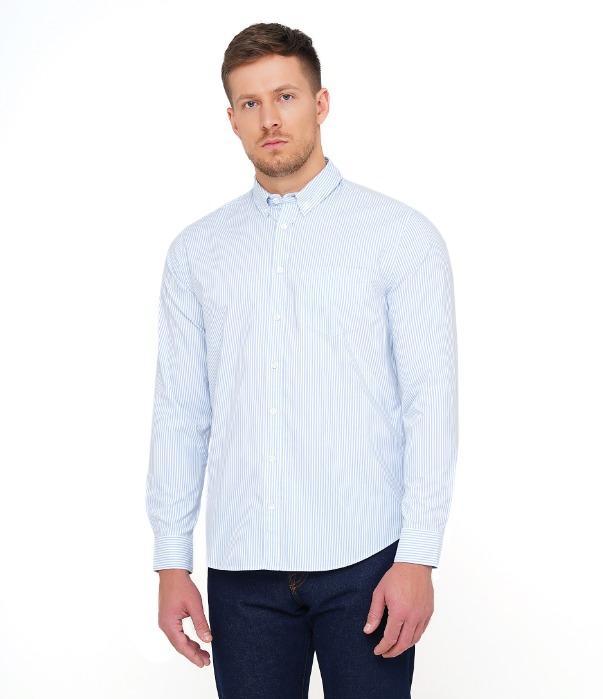 LIAM/DR-EL Sky Blue Striped Shirt -