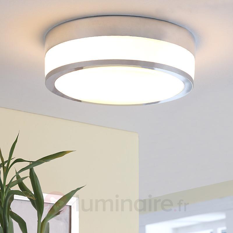 Plafonnier de salle d'eau Flavi LED E27, chromé - Salle de bains