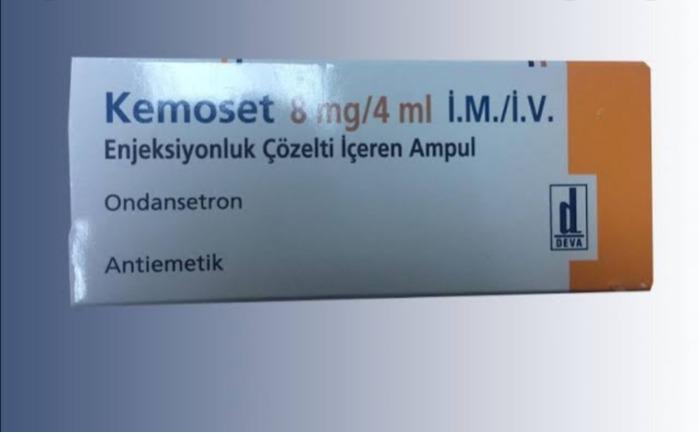 Kemoset  - 8 mg/4 ml IM/ IV Enjeksiyonluk çözelti içeren ampul