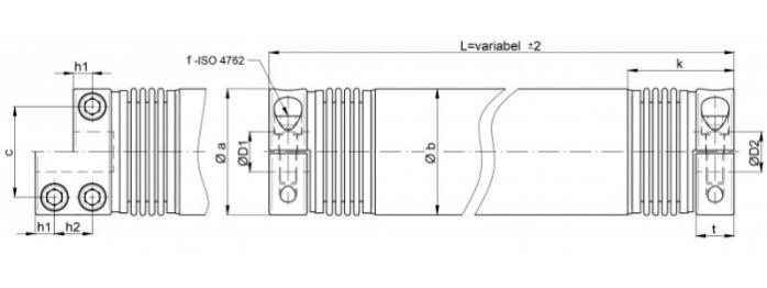 Distance coupling WD / WDS - Distance coupling WD / WDS - Metal bellows coupling with intermediate pipe