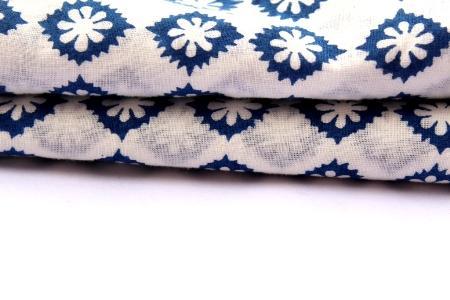 Flower Hand Made Block Print Fabric