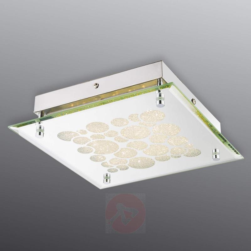 Cool white crystal ceiling lamp Erja - indoor-lighting