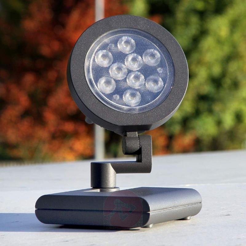LED outdoor spotlight with 9 Power LEDs, anth - Ground Lights