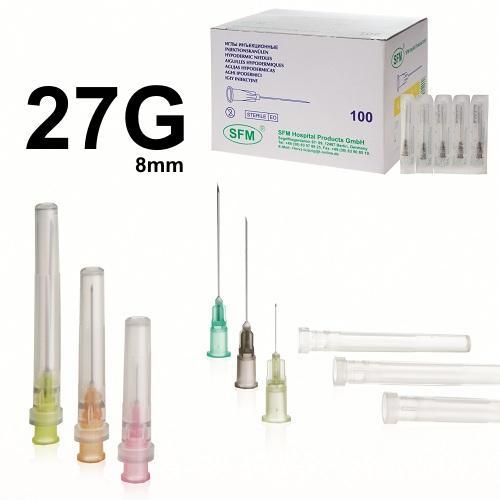 SFM Einwegkanülen 27G (0,4 mm x 8 mm) (100) - null