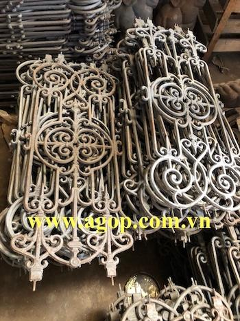 Gray grey cast iron fence Vietnam - Gray cas iron fence, cast iron Vietnam