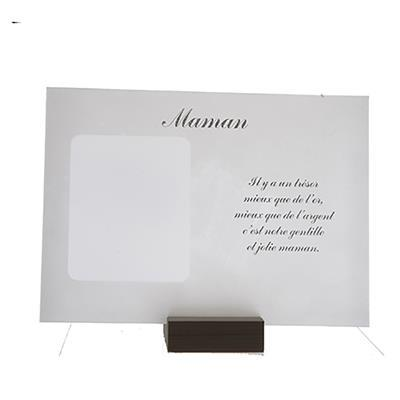 """POEM ON GLASS + PICTURE """"Maman"""" - Item No. 0870021M"""