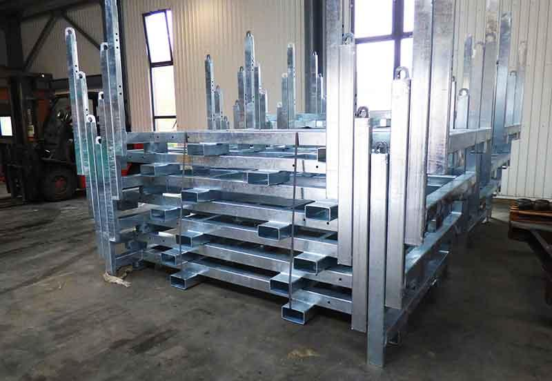 Mass production of steel details -