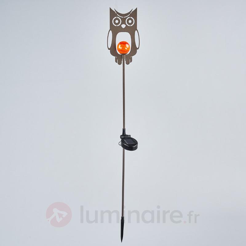 Lampe décorative solaire Chouette en métal - Lampes solaires décoratives
