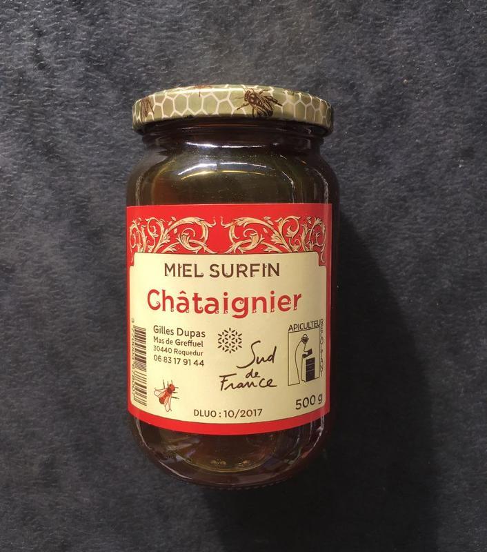Miel de Chataignier 500gr. - Épicerie sucrée