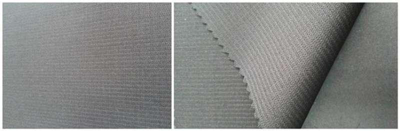 lã / poliéster / spandex  60/36/4   2/2  - vapor terminar /  listra torta tingida de fios