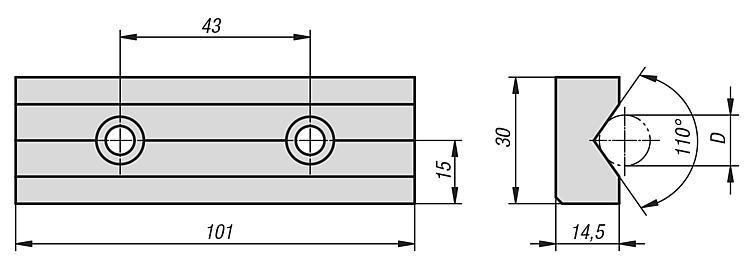 Mâchoire prismatique - Etau auto-centrant