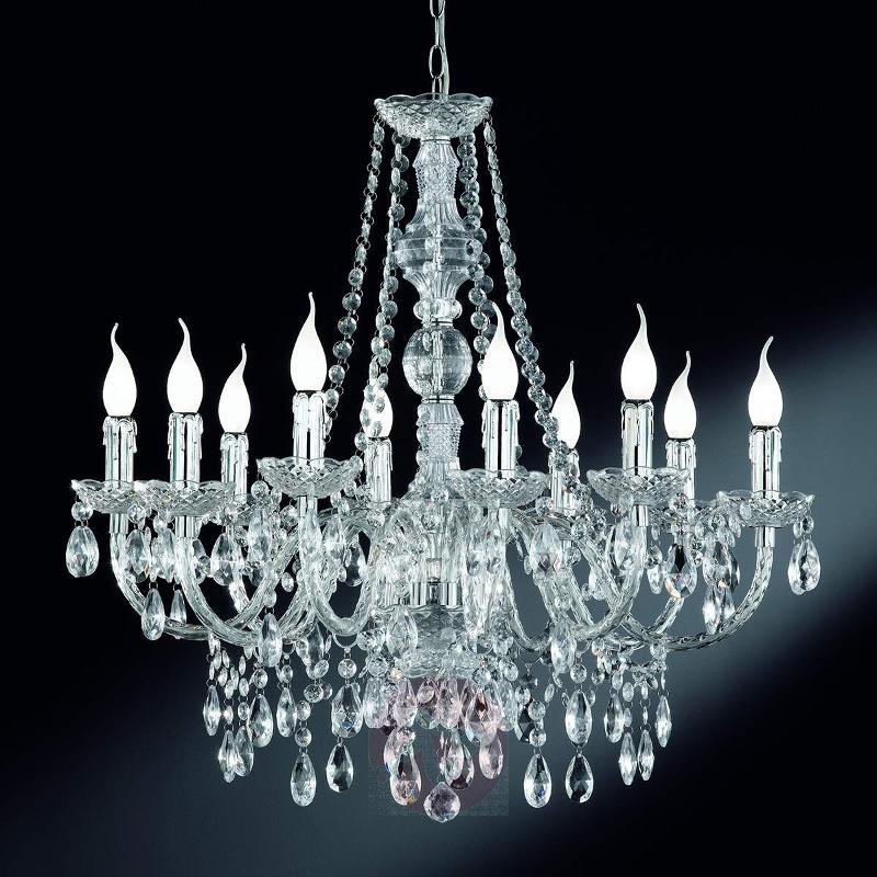 Perdita - chrome chandelier, 10-light - Chandeliers