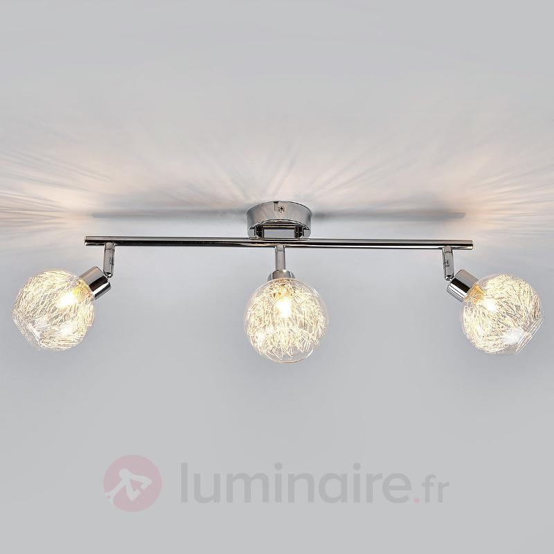 Plafonnier Pauline à 3 lampes - Plafonniers chromés/nickel/inox