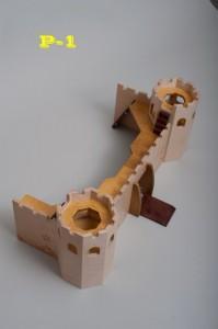 Wooden castle P1 - Wooden Toy Castle