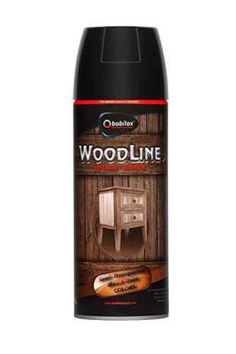 Babilox Woodline Spray Paint - Pack Size 400ml.- Bulk 25lt. Coverage: 400ml./2.5m2 Glossy Level: Medium