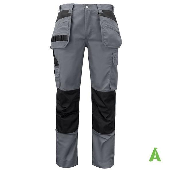 Pantaloni da lavoro protettivi con tasche e logo. - Pantaloni da lavoro protettivi con tasche e logo personalizzato.
