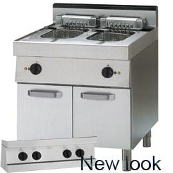 Cooking line 700 First Choice - ELECTRIC FRYER ON CUPBOARD CAP.13+13LT.
