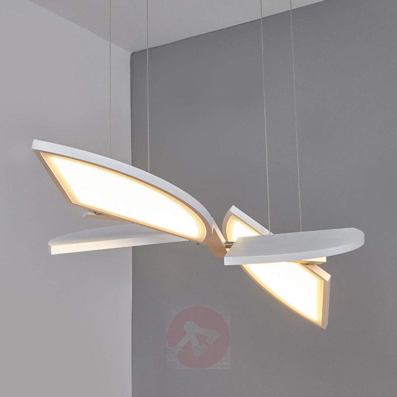 Aurela - functional LED pendant light in white - Pendant Lighting