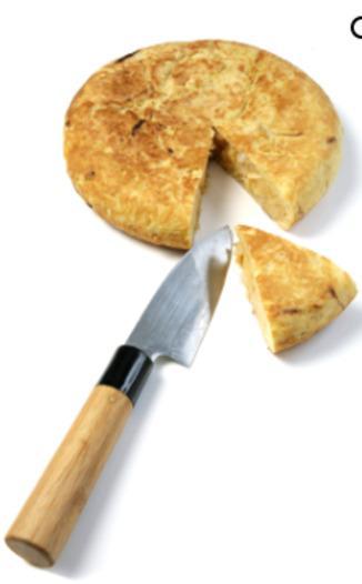 Tortilla, spanisches Omlett mit Zwiebeln - null