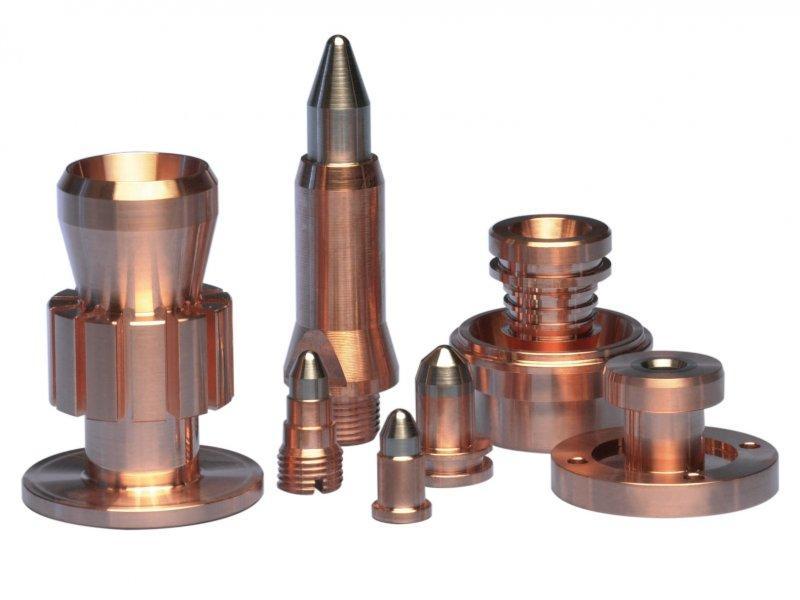 Plasma spray electrodes - Tungsten copper plasma spray electrodes and nozzels on stock