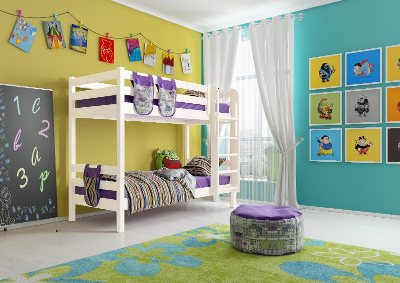 """Option 9 Bunk Bed """"Sonya"""" With A Straight Staircase - Children's room furniture"""