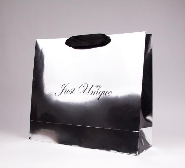 Papiertragetasche, manuell hergestellte,  - mit dem Offset-Aufdruck