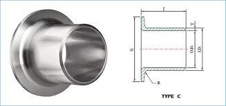 Stainless Steel 317/317L Short Stub End - Stainless Steel 317/317L Short Stub End
