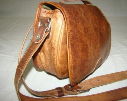Leather Ladies Bag - Leather bag for woman with shoulder straps