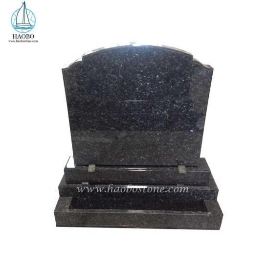 Blue Pearl Tombstone Serp Top Headstone Gravestone - Tombstone Sets