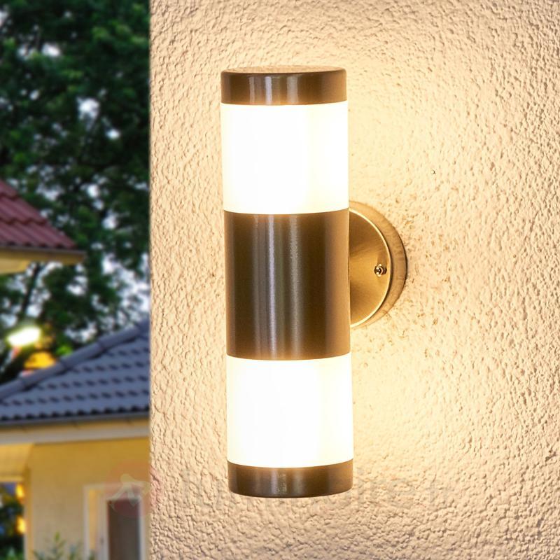 Applique inox pour l'extérieur LED à deux têtes - Appliques d'extérieur LED