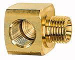 L screw-in distributor, G 3/8, AF 27, Brass - Male L-distributor