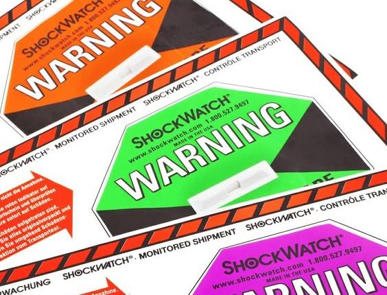 Shockwatch Labels - including A5 companion shipping labels -