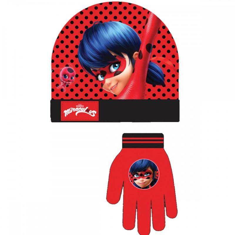 3x Bonnets et gants LadyBug - Bonnet Gant Echarpe
