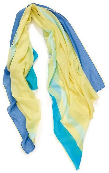 Etole jacquard fleur gaze - col 2 - jaune