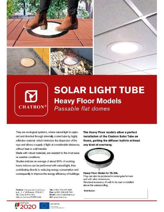 Tubo Solar - Modelos Heavy Floor - Domo planos transitables - Tubo Solar - Modelos Heavy Floor - Domo planos transitables - TRAGALUZ