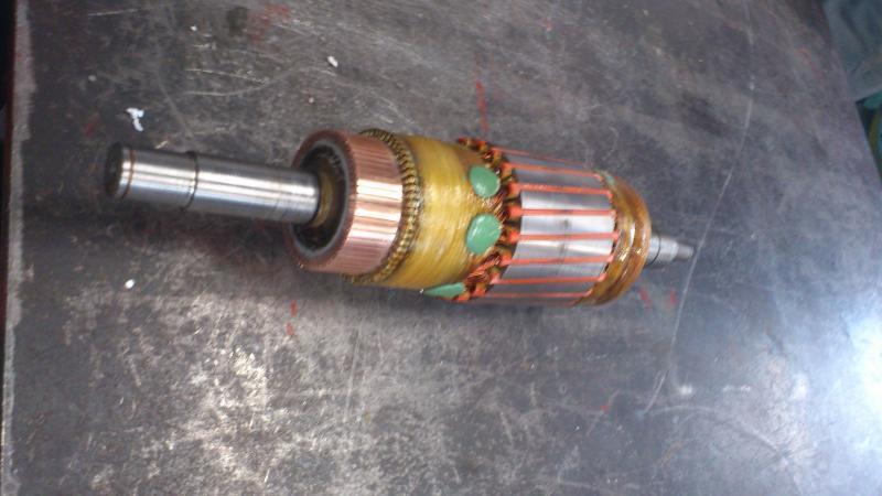 Bobinage induit SEW - Maintenance électro-mécanique en atelier